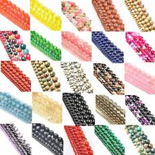 Natural Stone Crystal Gemstone Opal Round Bead Jewelry Spacer Loose Beads 4-12mm