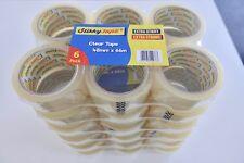 36 Rollos Fuerte Paquete Claro Caja de Embalaje Cinta de Sellado - 48 Mm x 66 M-Disp. hoy en día