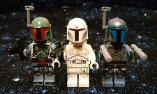 Custom Star Wars Boba Fett+Prototype Boba Fett+Jango Fett Minifigure Size 3pc