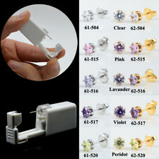 Disposable Sterile Ear Piercing Gun Unit Piercer Tool Crystal Earring Stud