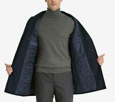Bar III Men's Slim-Fit Overcoat Wool Blend Coat Jacket Royal Blue 44L RRP $350
