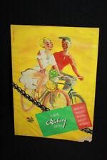 RUBERG Kette Brillant Fahrrad - Papp-Aufsteller Reklameschild sign. - D um 1950