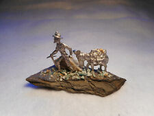 Gold Prospecting  Miner with Pack Mule (P483)