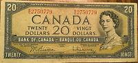 1954 BANK OF CANADA 20 DOLLARS BANK NOTE