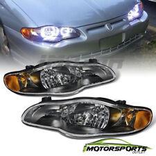 2000 2001 2002 2003 2004 2005 Chevrolet Monte Carlo Black Headlights Pair