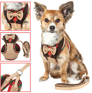 Pet Life 'Dapper-Bone' 2-in-1 Fashion Dog Harness-Leash with Designer Bowtie