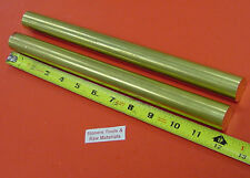 2 Pieces 1 C360 Brass Round Rod 12 Long Solid New Lathe Bar Stock 100 Od H02