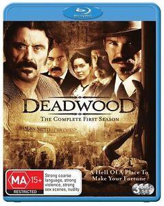 Deadwood Season 1 (3 Disc Blu-ray) Region B HBO Rare New & Sealed!