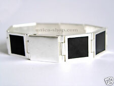Elegantes PILGRIM Armband Silber Schwarz Trend NEU!