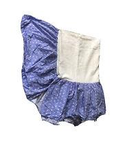 Pottery Barn Kids Pbk Blue Floral Flowers Bed Skirt Dust Ruffle