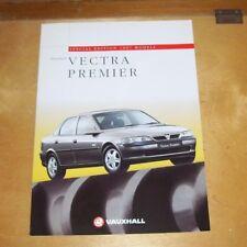 VAUXHALL VECTRA PREMIER SPECIAL EDITION 1997 MODELS SALES BROCHURE V10423 1996
