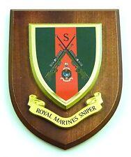 ROYAL MARINES COMMANDO SNIPER CLASSIC HAND MADE  REGIMENTAL STYLE MESS PLAQUE