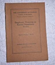 VINTAGE BOOKLET EMPLOYEE TRAINING IN KANSAS DEPARTMENT STORES UNI OF KANSAS 1925