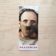 Deathwish skateboard vinyl sticker Silence mask Hopkins Foster Lambs murder kill