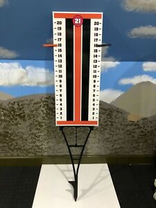 Cornhole - Horseshoe - Scoreboard Score Keeper Sign - Orange And Black