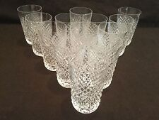 SET OF 13 WATERFORD CRYSTAL HIGHBALL 12 OZ FLAT TUMBLERS THE ALANA PATTERN