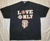 Rare San Francisco Giants 49ers Parking Lot T-shirt City Of Champions Men's XL