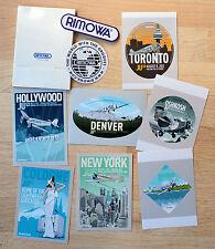 SET of 9 Rimowa Luggage JU52 Jet Retro Promote Sticker Denver NY Toronto Oshkosh