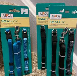 "ASPCA. COLLAR & LEASH Set.  Small 3/8"" Width"