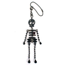 100% Authentic Anteprima Crystal Encrusted Skull Skeleton Keyring Bag Charm