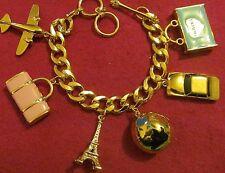 ELEGANT HUGE CHUNKY ENAMEL EIFFEL TOWER Paris Travel Dangle. FOB Charm Bracelets