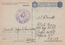 A8619) WW2 BOLLO 7 REGGIMENTO ALPINI 36 BATTAGLIONE COMPLEMENTI COMPAGNIA CADORE