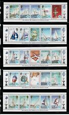 Solomon Island,Scott#570//574,Strips of 10 stamps,Ships,MNH