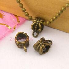 50Pcs Antiqued Bronze Bail Bead Fit Charm Bracelet 6.5x12mm A5251