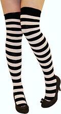Women Stripe Over The Knee Socks Thigh High Girls Stretchy OTK Socks FancyDress