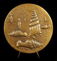 "Medal "" the Sea "" Num Ee /150 Stelae Femmes-Galets-Coquillages Georges Lay 10 CM"
