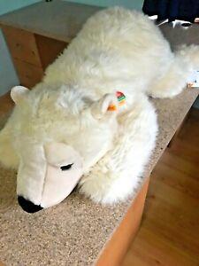 """JUMBO Steiff Cosy Snobby Bear Cream Laying 113048 NEW 45"""""""