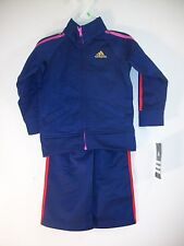 Adidas Navy Blue & Multi Color  Infant Girls 2 Piece Track Suit 18M  NWT $42