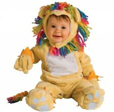 Baby FEARLESS LION Costume Plush Jumpsuit w Hood Mittens Boy Girl Infant 6 12 mo