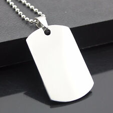 Military Dog Tag Stainless Steel Pendant Ball Bead Necklace Army Men NEW NEW~-