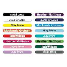 100 x PERSONALISED STICK ON PENCIL NAME LABELS TAGS WATERPROOF FOR SCHOOL / KIDS