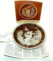 Incolay Vintage Carved Cameo Plate To a Skylark #11742 Gayle Bright Appleby 1979