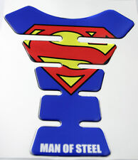 Superman Mirror Chrome Effect 3D Gel Resin Domed Tank Pad K1 Shape