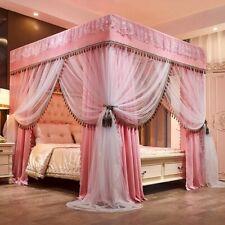 Luxury Two Floors Three Doors Floor-standing Princess Lace Bed Mosquito Net