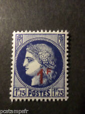 FRANCE, 1940-1941, timbre 486 CERES, SURCHARGE', neuf** LUXE, VF MNH STAMP