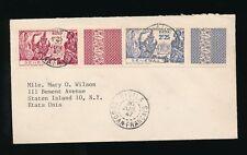 FRENCH WEST AFRICA DIOILA MALI 1947 SENEGAL NY EXPO SET INTERPANNEAU