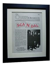 QUEEN+Scandal+Miracle+POSTER+AD+ORIGINAL+1989+QUALITY FRAMED+EXPRESS GLOBAL SHIP