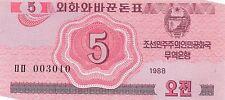Korea North 5 Chon 1988 Unc pn 32