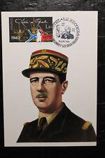 Carte Postale - FRANCE - Timbre Hommage Gal DE GAULLE - Appel 18 juin 1940