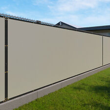 Beige 480GSM 1FT Privacy Screen Fence Commercial Windscreen Mesh Cover