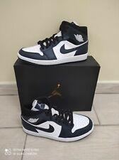 Scarpa da uomo NIKE Air Jordan 1 MID DARK Teal Armory Navy Sneaker 554724-411