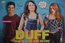 THE DUFF - A3 Poster (42 x 28 cm) - Film Hast du keine bist du eine Clippings