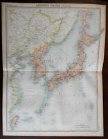 Japanese Empire Japanese islands Korea Taiwan c. 1920 large detailed map