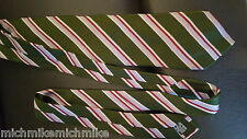 Burbberry mens Neck Tie Green Diagonal Stripe made in Italy Excellent no issues