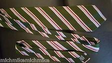 EXCELLENT NO ISSUES BURBERRY Men's Neck Tie Green Diagonal Stripe WOVENIN ITALY