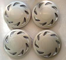 "Hub Cap Silver 14"" Inch Rim Wheel Skin Cover Center 4 pc Set Caps Covers"